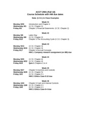 Course SCHEDULE Fall 10