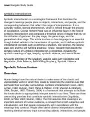 symbolic interactionism Research Paper Starter - eNotes