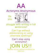 Acronyms Anonymous