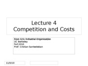 Lecture4_Competition and Cost