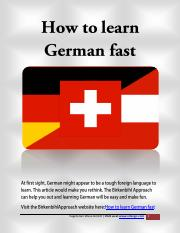 How to learn German fast.pdf