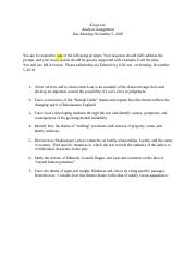 king lear  questionsdocx   king lear act iv  what is   pages king lear essay promptdocx