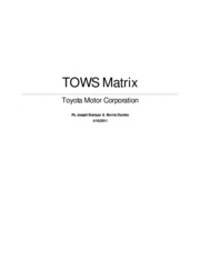 TOWS ANALYSIS of Toyota