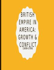 British empire in America (1650-1750)