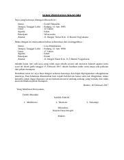 Contoh Surat Nikah Siridocx Surat Pernyatan Nikah Siri