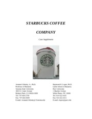 starbucks coffee co case supplement