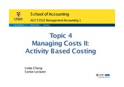 Topic 4 ManagingCost II_StudentCopy 2015 (1 slide per page)