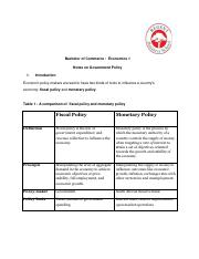 Bcom Part 1 Economics Notes Pdf