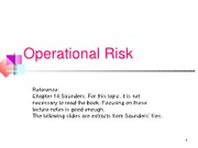 Lecture Notes 8 operational risk