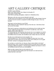 McBean_Critique_Art Gallery