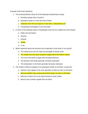 Example Final Exam Questions