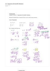 1.3 Exponents and Scientific Notation