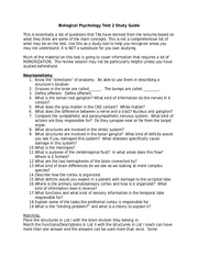 PSYC 2012 - Test 2 Study Guide