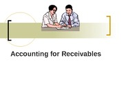 Accounting for Receivables (- Ch. 5)
