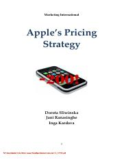 apples's pricing strategy