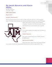 A&M brochure Jacob Navarro and Kacie Miller.docx
