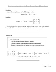 Cross Product Methods
