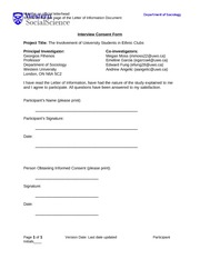 Qualitative Research Paper Consent Form