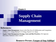 09. Supply Chain Management (13-15 E)