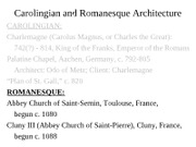 7ARCH2003 - Lect 11B - Romanesque