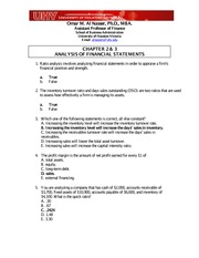 Chapter 2 & 3 Quiz Answers