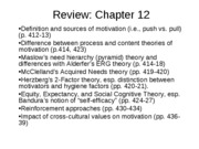 Review Exam 4 - Chs. 12-14