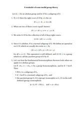 Lecture on Quotients of Abelian Groups