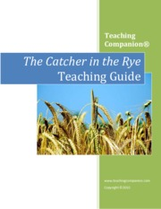 The Catcher in the Rye Teaching Guide