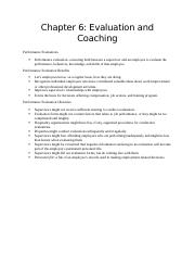 Chapter 6 Evaluation and Coaching