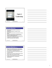 Chapter 11 Understanding Management 6e ANC Fall 2009 handout
