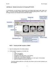 Neuroimaging Laboratory Exercise  - Lab Manual