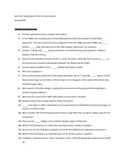 Chapter 6 Reading Quiz Questions