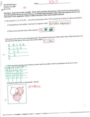 Exam 1 spr07  page 1 Solutions