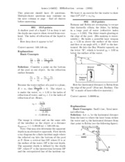 GPII - Homework 9, Refraction - solutions