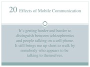 Chapter 20 - Effects of Mobile Communication