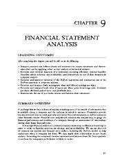 Financial analysis problems