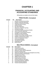 Financial Accounting & Accounting Standards