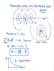 Straight Wire on Ampere's Law Notes