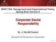 BMGT 364 Session 9 - Corporate Social Responsibility - handouts