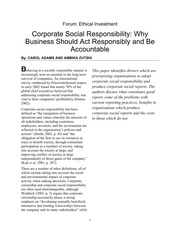 14.0 CSR - Responsible and Accountable Business