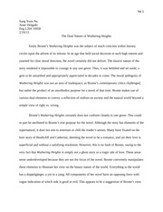 Emily Bronte final draft