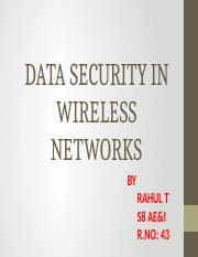 data security in wire less net working