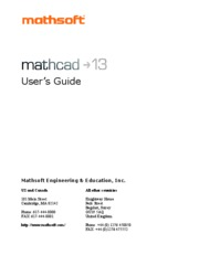Mathcad 13 User's Guide
