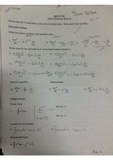 Derivative and Integral Rules