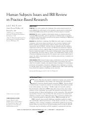human sunjects issues and irb review in practice-based research.pdf