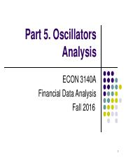 Part 5. Oscillators Analysis