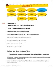 Chapter 2 Chemestry of Life