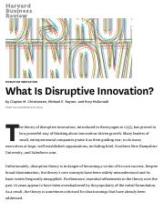 What Is Disruptive Innovation.pdf