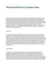 mgt 448 (Miami School District Negotiation Paper)