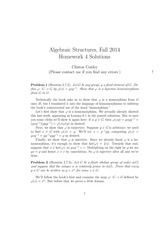 MATH 373 Fall 2014 Homework 4 Solutions